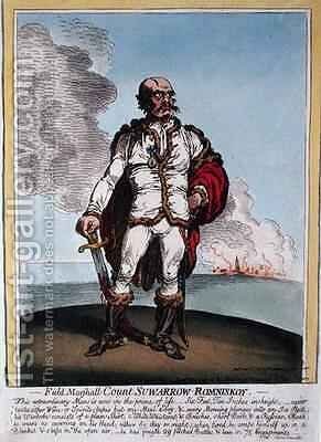 Field Marshall Count Suwarrow Rominiskoy 1729-1800 by James Gillray - Reproduction Oil Painting