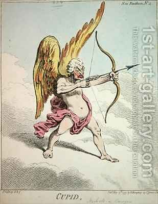 Cupid from the New Pantheon No 4 by James Gillray - Reproduction Oil Painting