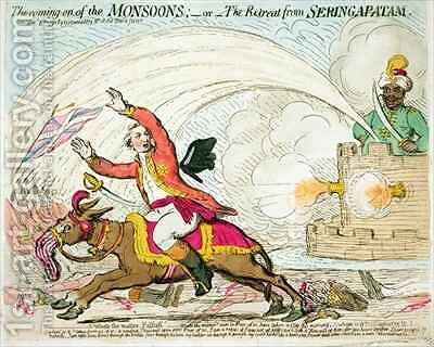 The coming on of the Monsoons by James Gillray - Reproduction Oil Painting