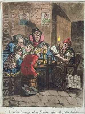 London Corresponding Society alarmd or Guilty Conscience by James Gillray - Reproduction Oil Painting