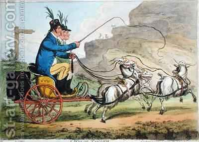 A Welch Tandem by James Gillray - Reproduction Oil Painting
