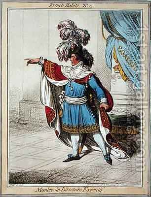 Membre du Directoire Executif by James Gillray - Reproduction Oil Painting