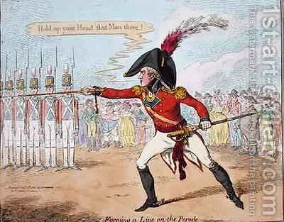 Forming a Line on the Parade 2 by James Gillray - Reproduction Oil Painting
