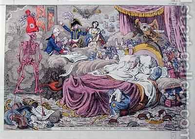 Political Dreamings Visions of Peace Prospective Horrors 2 by James Gillray - Reproduction Oil Painting