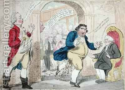 Bologna Sausages or Opposition Fluxd 2 by James Gillray - Reproduction Oil Painting