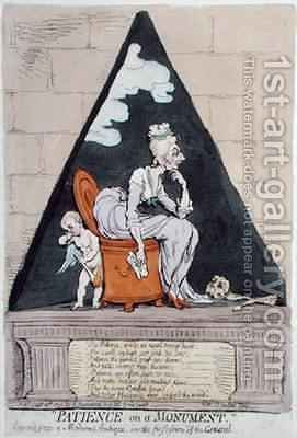 Patience on a Monument 2 by James Gillray - Reproduction Oil Painting