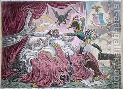 Comforts of a Bed of Roses 2 by James Gillray - Reproduction Oil Painting