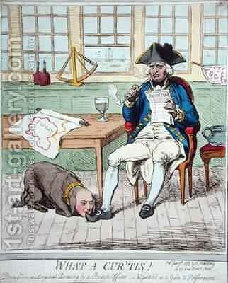 What a Curtis 2 by James Gillray - Reproduction Oil Painting
