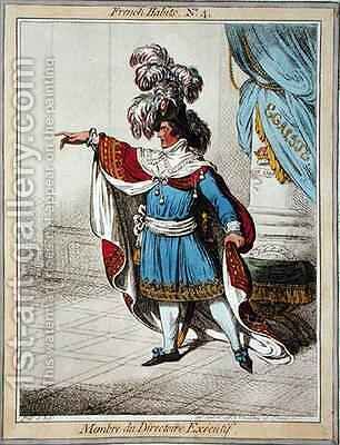 Membre du Directoire Executif 2 by James Gillray - Reproduction Oil Painting