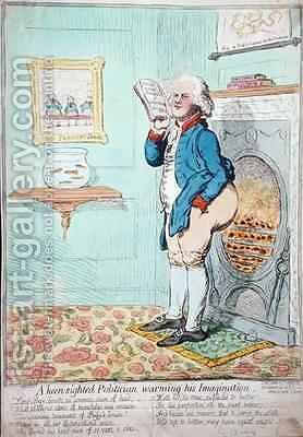 A keen sighted Politician warming his Imagination 2 by James Gillray - Reproduction Oil Painting