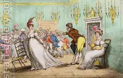 A Broad Hint of Not Meaning to Dance by James Gillray - Reproduction Oil Painting