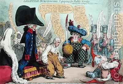 Lilliputian Substitutes Equipping for Public Service by James Gillray - Reproduction Oil Painting