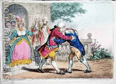 The Reconciliation by James Gillray - Reproduction Oil Painting