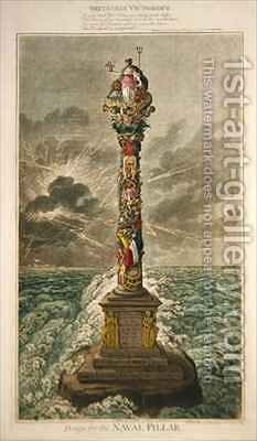 Britannia Victorious Design for the Naval Pillar by James Gillray - Reproduction Oil Painting