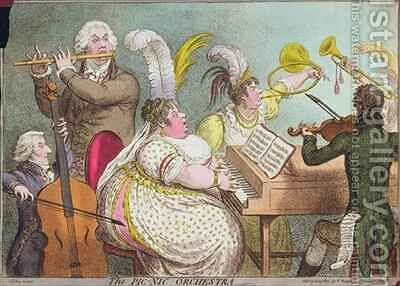 The Pic Nic Orchestra by James Gillray - Reproduction Oil Painting