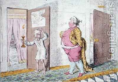 The Grand Signior Retiring by James Gillray - Reproduction Oil Painting