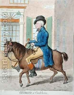 Georgey a Cockhorse by James Gillray - Reproduction Oil Painting