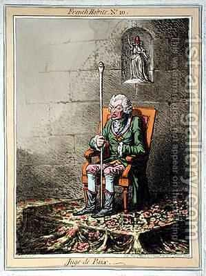 Juge de Paix by James Gillray - Reproduction Oil Painting