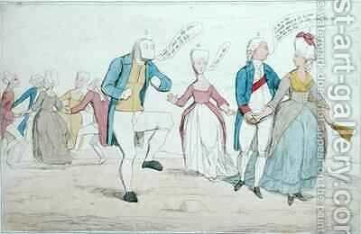 Monuments lately discovered on Salisbury Plain by James Gillray - Reproduction Oil Painting