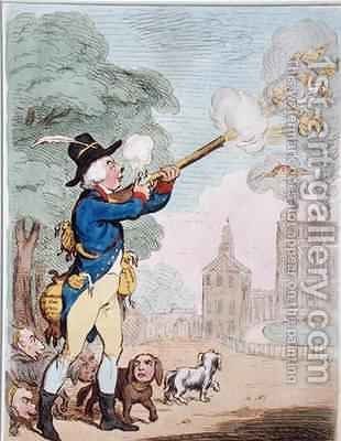 A Good Shot or Billy Ranger the Game Keeper in a fine Sporting Country by James Gillray - Reproduction Oil Painting