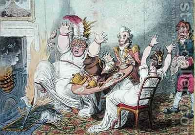 Advantages of Wearing Muslin Dresses dedicated to the serious attention of the fashionable ladies of Great Britain 2 by James Gillray - Reproduction Oil Painting