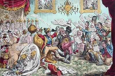 News from Calabria Capture of Buenos Ayres or The Comforts of an Imperial Dejeune at St Clouds by James Gillray - Reproduction Oil Painting