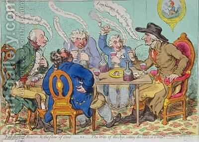 The Feast of Reason and the Flow of the Soul  ie The Wits of the Age by James Gillray - Reproduction Oil Painting