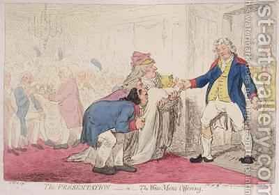 The Presentation or Wise Mens Offering by James Gillray - Reproduction Oil Painting