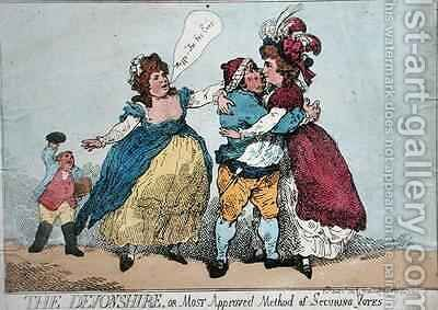 The Devonshire or Most Approved Method of Securing Votes by James Gillray - Reproduction Oil Painting