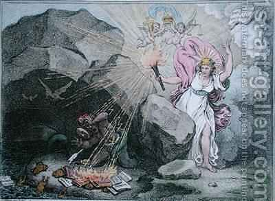 A Peep into the Cave of Jacobinism or Magna est Veritas et praevalebit by James Gillray - Reproduction Oil Painting