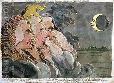 Weird Sisters Ministers of Darkness Minions of the Moon by James Gillray - Reproduction Oil Painting