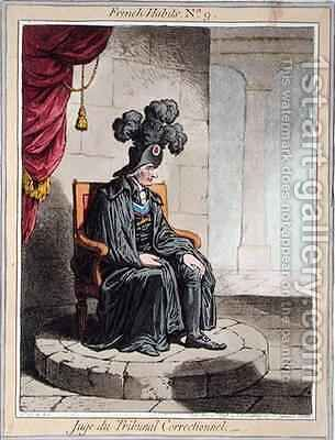 Juge du Tribunal Correctionnel by James Gillray - Reproduction Oil Painting