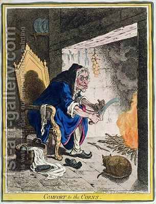 Comfort to the Corns by James Gillray - Reproduction Oil Painting