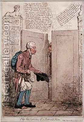 Pity the Sorrows of a Poor Old Man by James Gillray - Reproduction Oil Painting