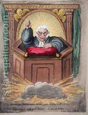 Cambridge Commencement Sermon by James Gillray - Reproduction Oil Painting