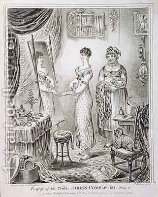 Progress of the Toilet or Dress Completed by James Gillray - Reproduction Oil Painting