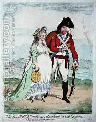 The Soldiers Return or Rare News for Old England by James Gillray - Reproduction Oil Painting