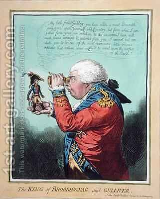 The King of Brobdingnag and Gulliver by James Gillray - Reproduction Oil Painting
