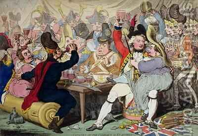 Fatigues of the Campaign in Flanders by James Gillray - Reproduction Oil Painting