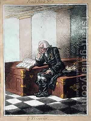The Treasurer by James Gillray - Reproduction Oil Painting