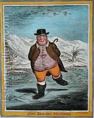 Fine Bracing Weather by James Gillray - Reproduction Oil Painting