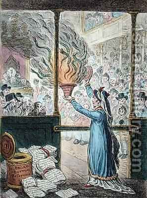 Pandora Opening her Box by James Gillray - Reproduction Oil Painting