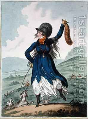Diana returnd from the Chace by James Gillray - Reproduction Oil Painting
