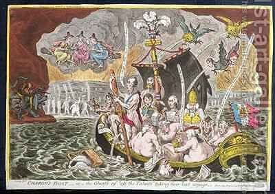 Charons Boat or The Ghosts of the All Talents Taking their Last Voyage by James Gillray - Reproduction Oil Painting