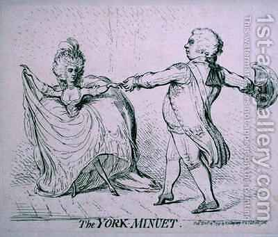 The York Minuet by James Gillray - Reproduction Oil Painting