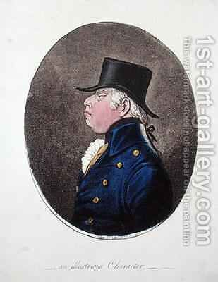 An Illustrious Character by James Gillray - Reproduction Oil Painting