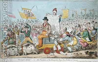 The Loyal Address or The Procession of the Hampshire Hogs from Botley to St James by James Gillray - Reproduction Oil Painting