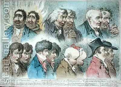 Doublures of Characters or Striking Resemblances in Phisiognomy by James Gillray - Reproduction Oil Painting