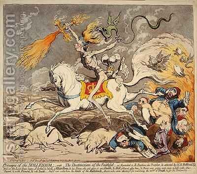 Presages of the Millennium by James Gillray - Reproduction Oil Painting