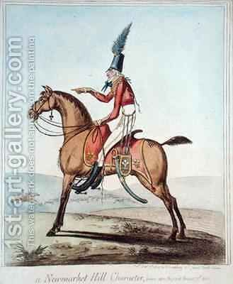A Newmarket Hill Character drawn upon the spot by James Gillray - Reproduction Oil Painting